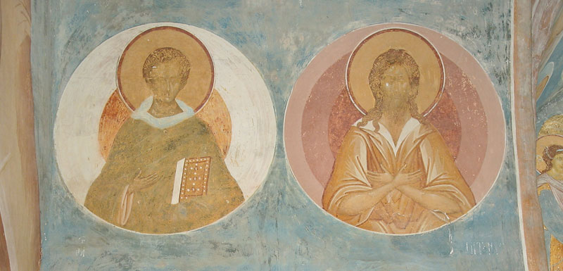 Dionisy's frescoes. Sts. John the Tent-dweller and St. Alexius, Man of God