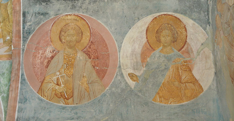 Dionisy's frescoes. Martyrs Sergios and Bakkhos