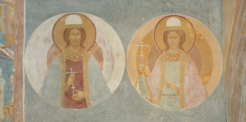 Dionisy's frescoes. Sts. Grand Princes Boris and Gleb