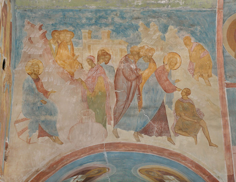 Dionisy's frescoes. Conversation with the Samaritan woman; Healing of the Blind Man