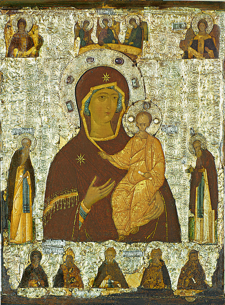 Mother of God Hodegetria of Smolensk with the Saints. Dionisy. The last quarter of the 15th century