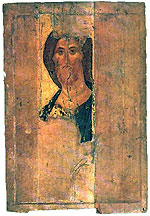 Christ the Redeemer. Zvenigorod Tier. Andrei Rublev