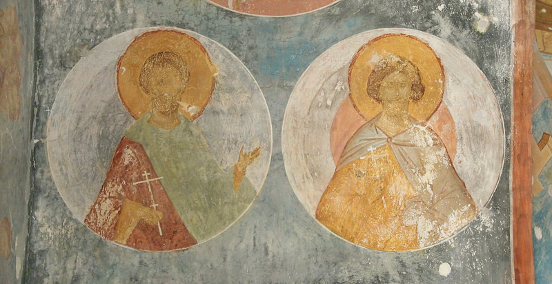 Dionisy's frescoes. Martyr Eugene and Unknown Martyr