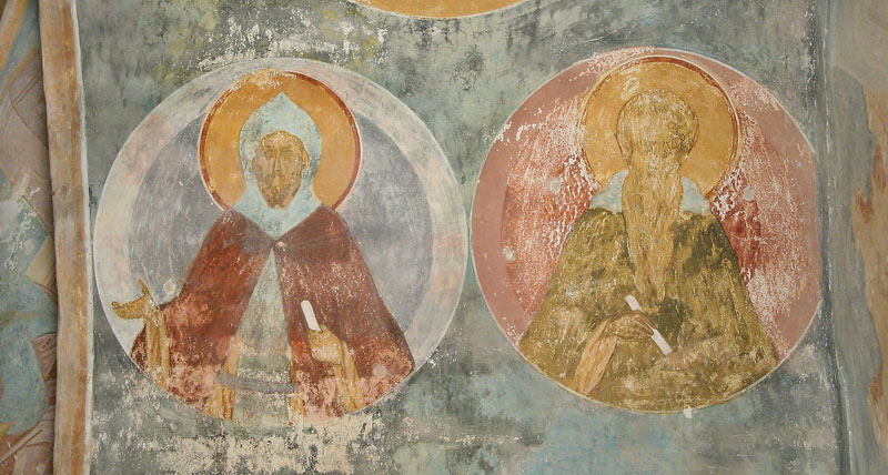Dionisy's frescoes. Sts. Ephrem the Syrian and John of the Ladder