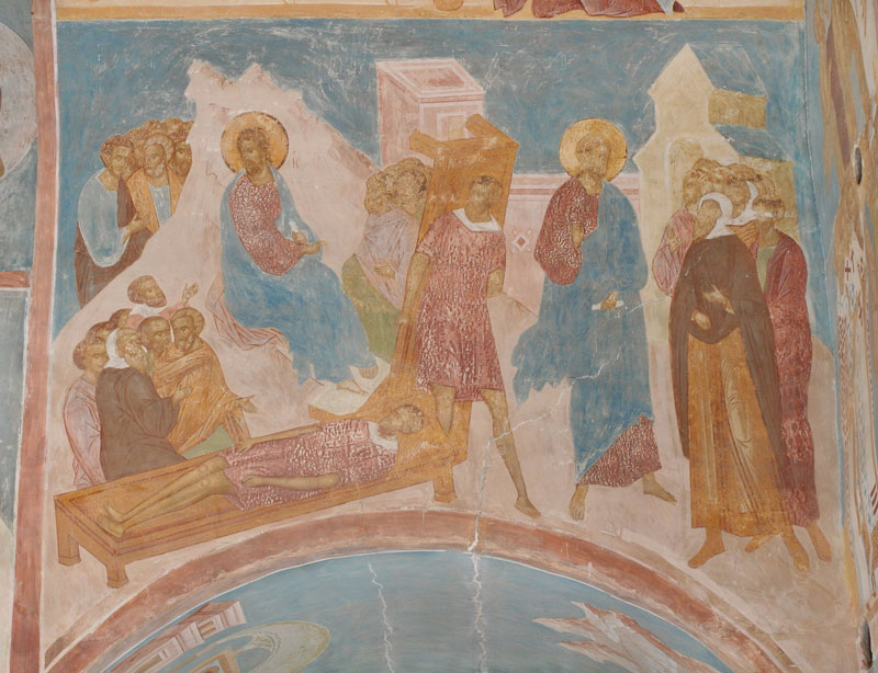 Dionisy's frescoes. Healing of the Man Sick of the Palsy