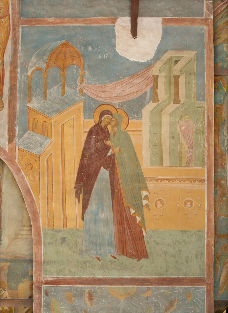 "Dionisy's frescoes. ""...be born from a virginal womb..."" (Akathist. Eikos 3)"