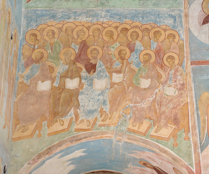 Dionisy's frescoes. Apostles and Angels in composition Last Judgement