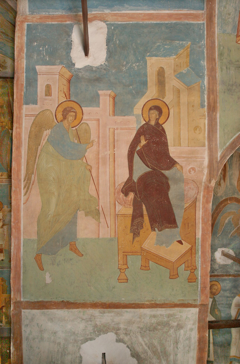 "Dionisy's frescoes. ""Beholding herself in purity, the holy one..."" (Akathist, Kontakion 2)"