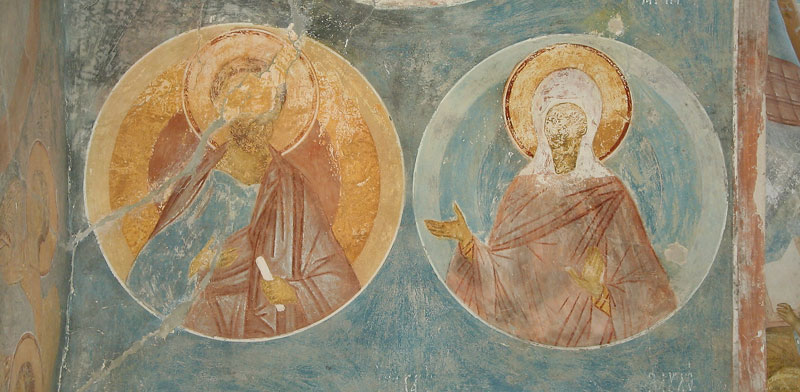 Dionisy's frescoes. Sts. Joachim and Anne, Forebearers of God