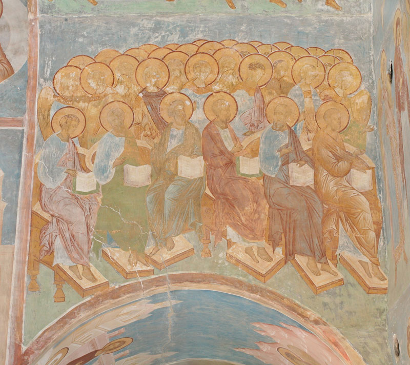 Dionisy's frescoes. Apostles and Angels from The Last Judgement composition