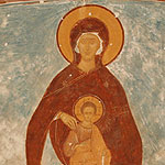 Mother of God Enthroned with Archangels Michael and Gabriel