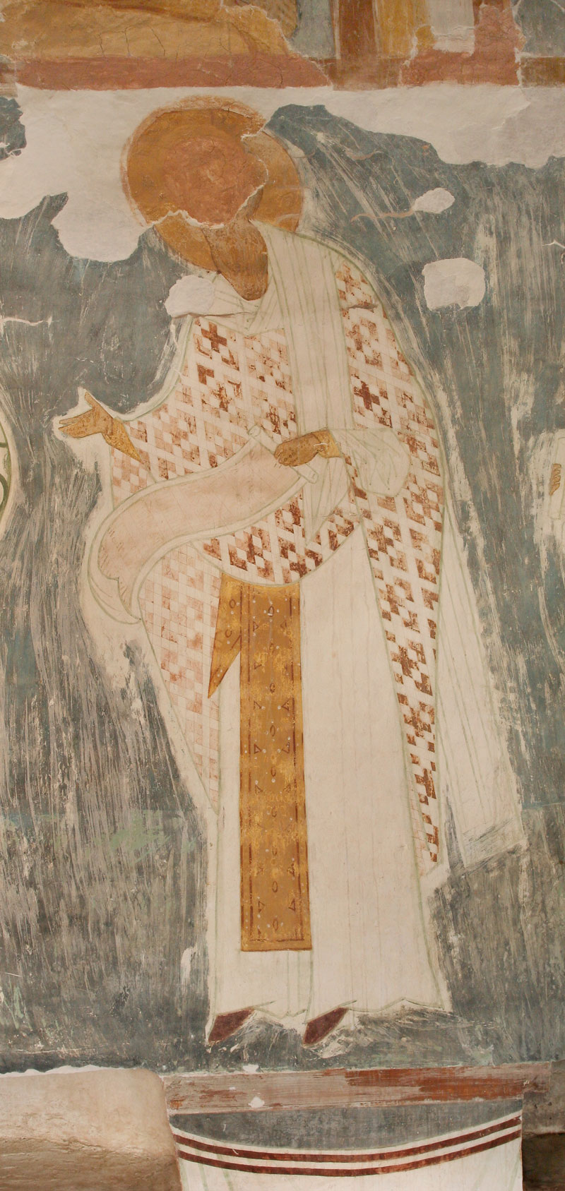 Dionisy's frescoes. Unknown High Priest from The Liturgy of Church Fathers