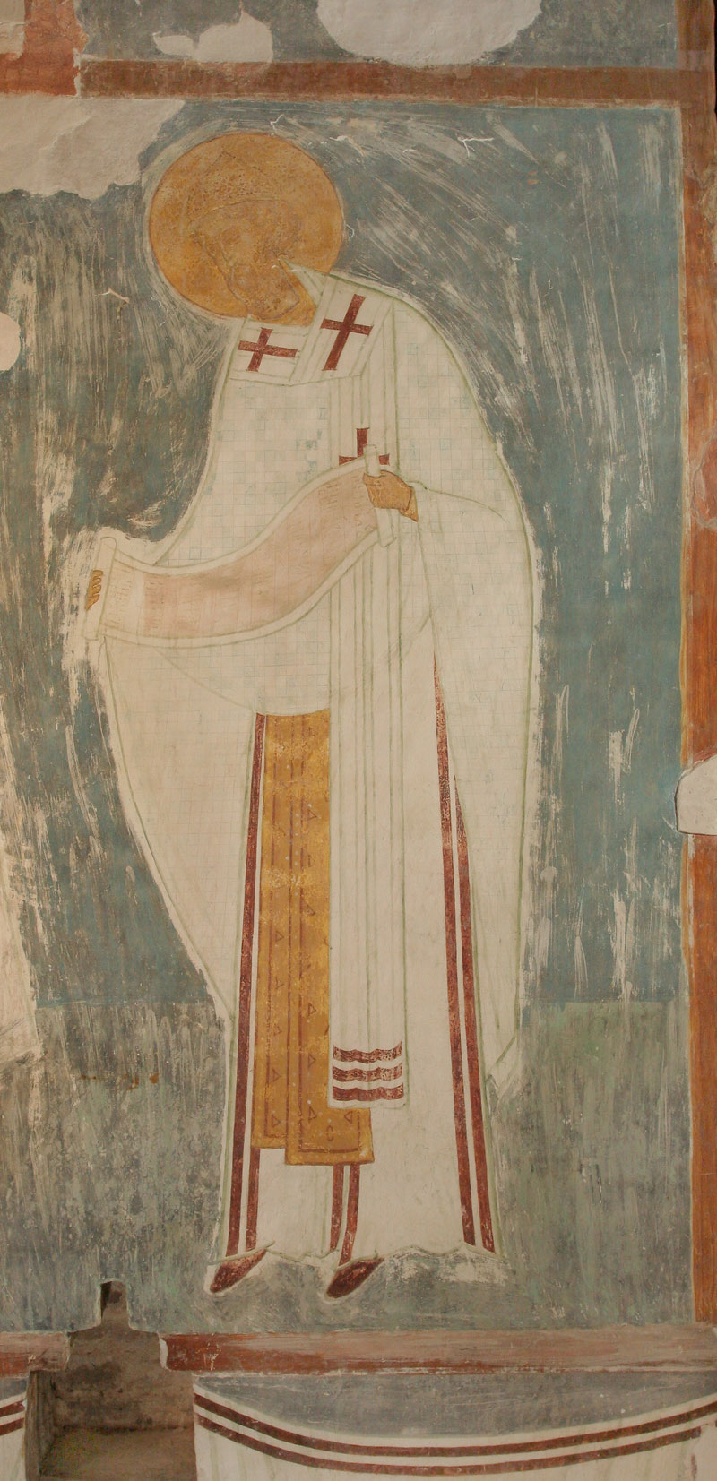 Dionisy's frescoes. Saint Spyridon, Bishop of Trimyphunteia from The Liturgy of Church Fathers