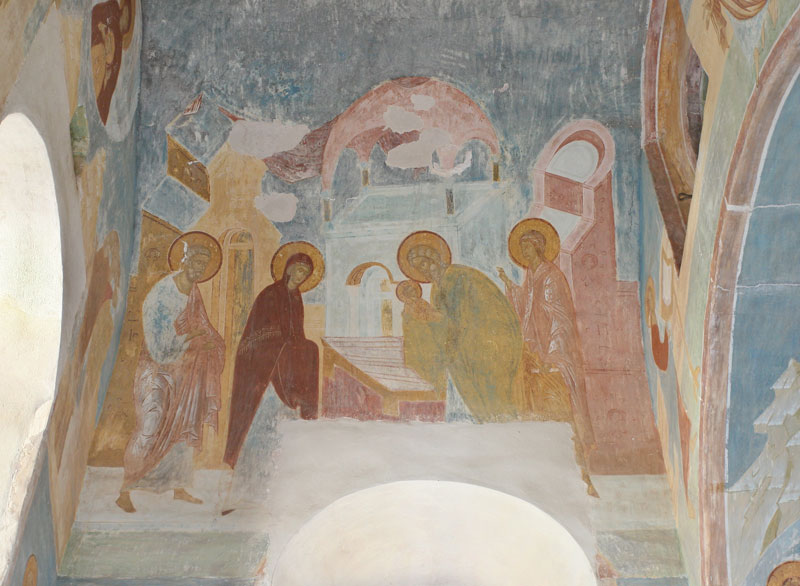 "Dionisy's frescoes. ""When Symeon was prepared to leave from this age of deception..."" (Akathist. Kontakion 7)"