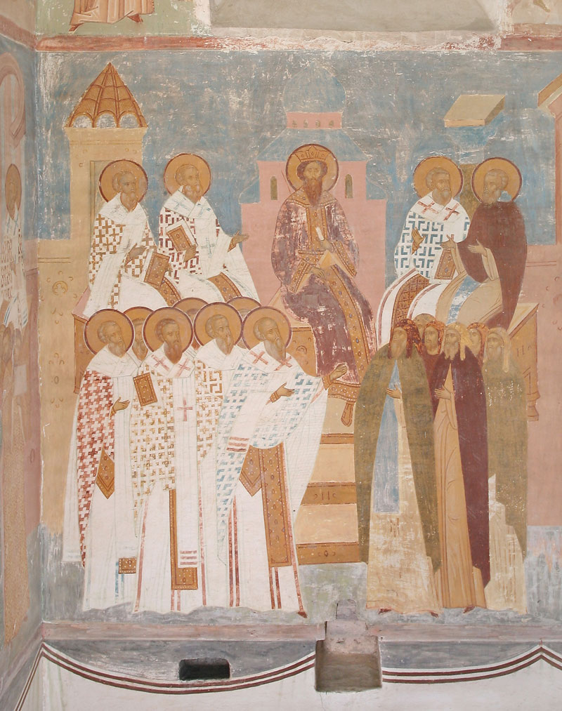 Dionisy's frescoes. The Sixth Ecumenical Council