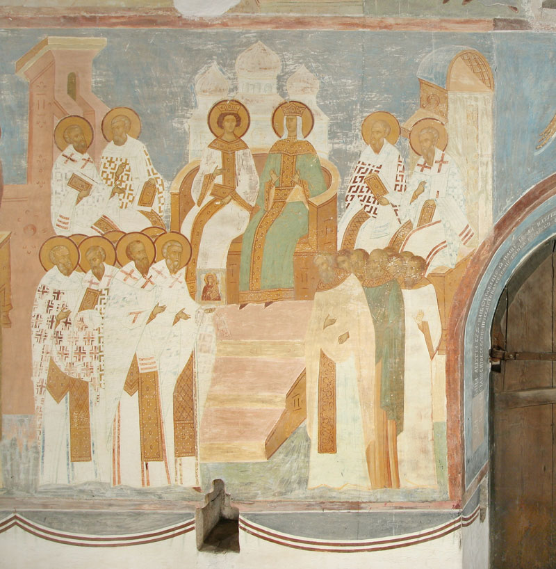 Dionisy's frescoes. The Seventh Ecumenical Council