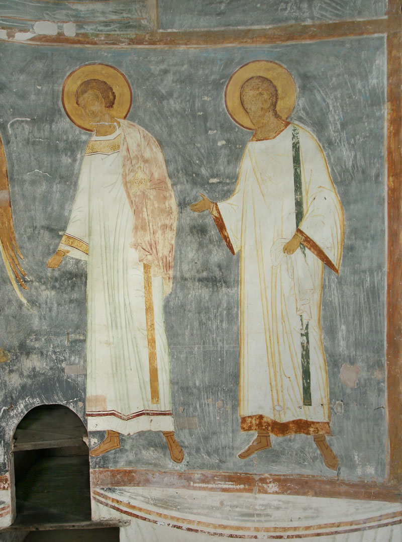 Dionisy's frescoes. Angel and Deacons
