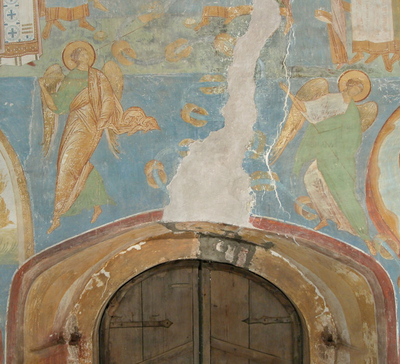 Dionisy's frescoes. Angels, Defeating Demons and A Fiery Stream. The Last Judgement