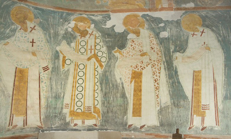 Dionisy's frescoes. Liturgy of Church Fathers