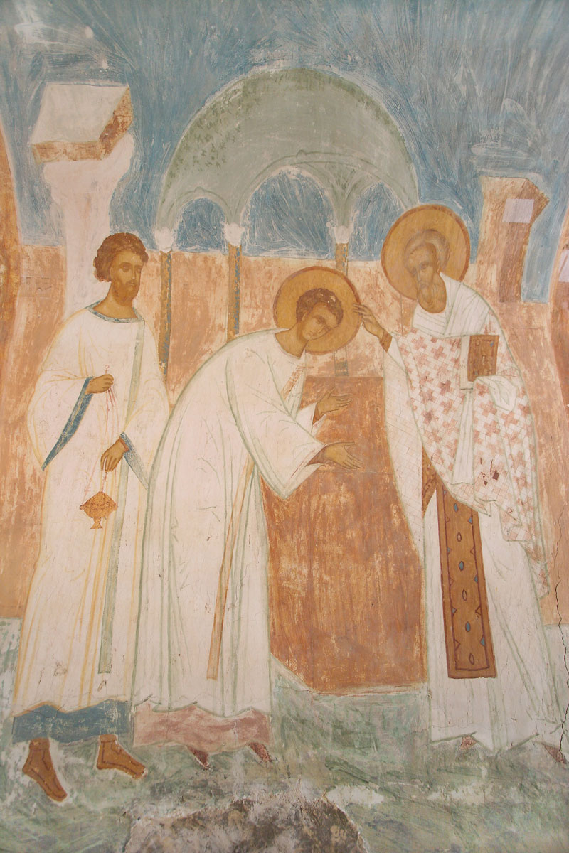 Dionisy's frescoes. Ordination of Saint Nicholas as Deacon