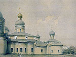A view of the St. Cyril Belozero Monastery. N. Martynov. An album drawing. 1860. The Russian State Museum