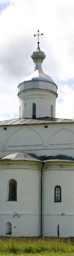 The Virgin Nativity Cathedral of the St. Ferapont Belozero Monastery. The Virgin Nativity Cathedral was the first stone edifice in Belozero region